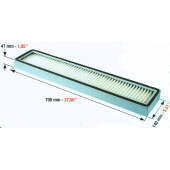 Heidelberger-System Filter RP 700 x 140 x 47 mm